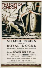 Vintage London underground poster - Port of London